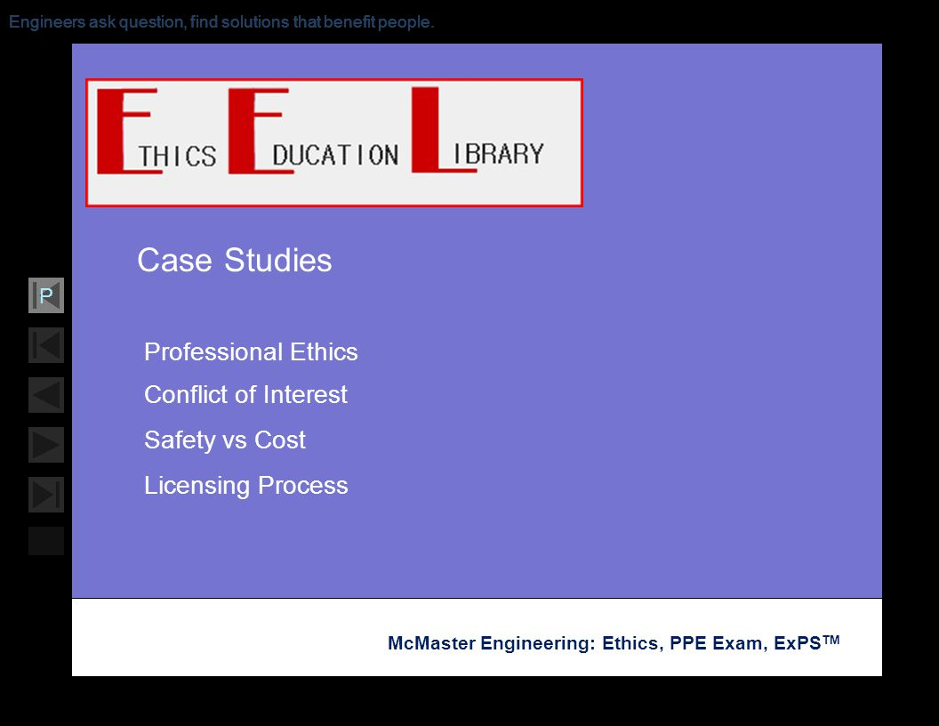 Professional Ethics Conflict of Interest Safety vs Cost