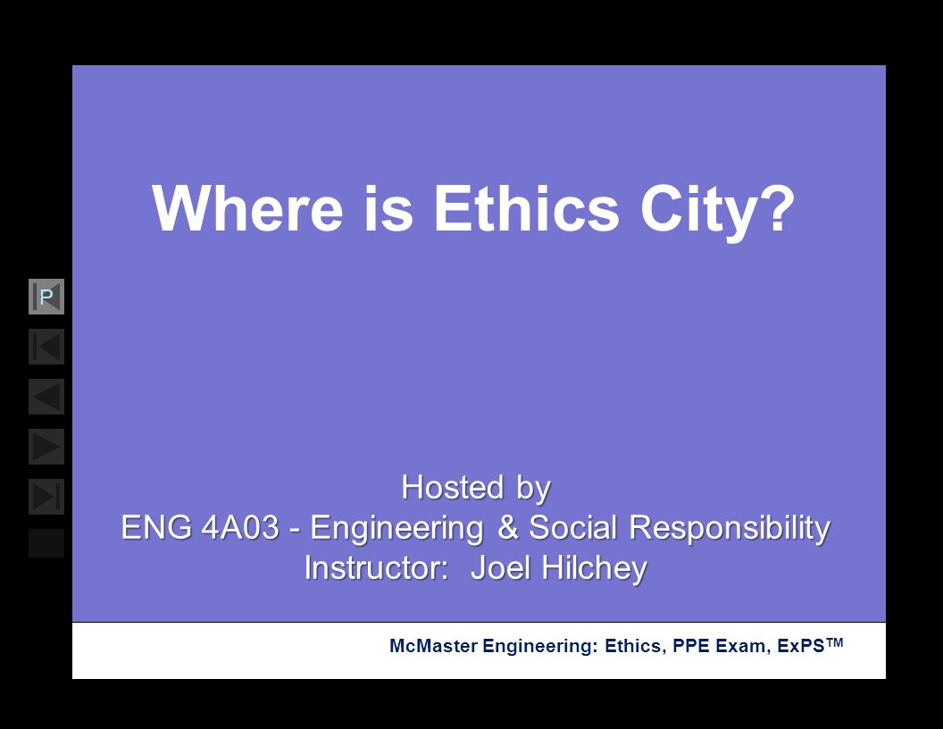 Where is Ethics City Hosted by