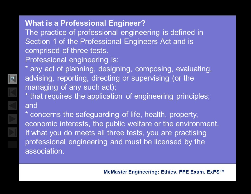 What is a Professional Engineer