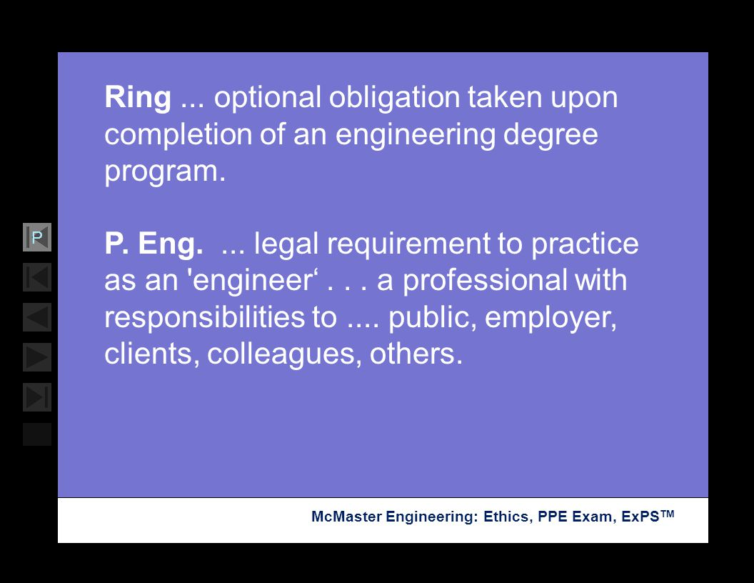 Ring ... optional obligation taken upon completion of an engineering degree program.