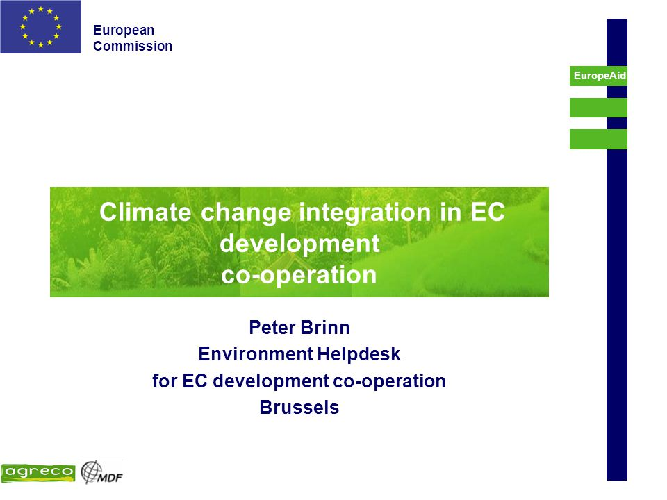 Climate change integration in EC development co-operation