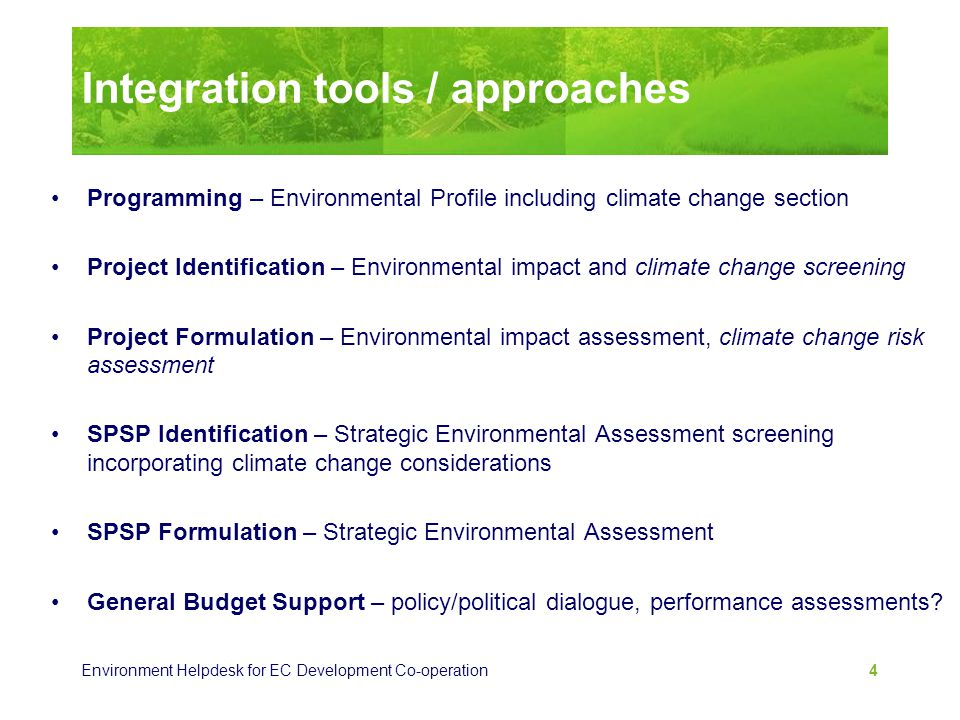 Integration tools / approaches