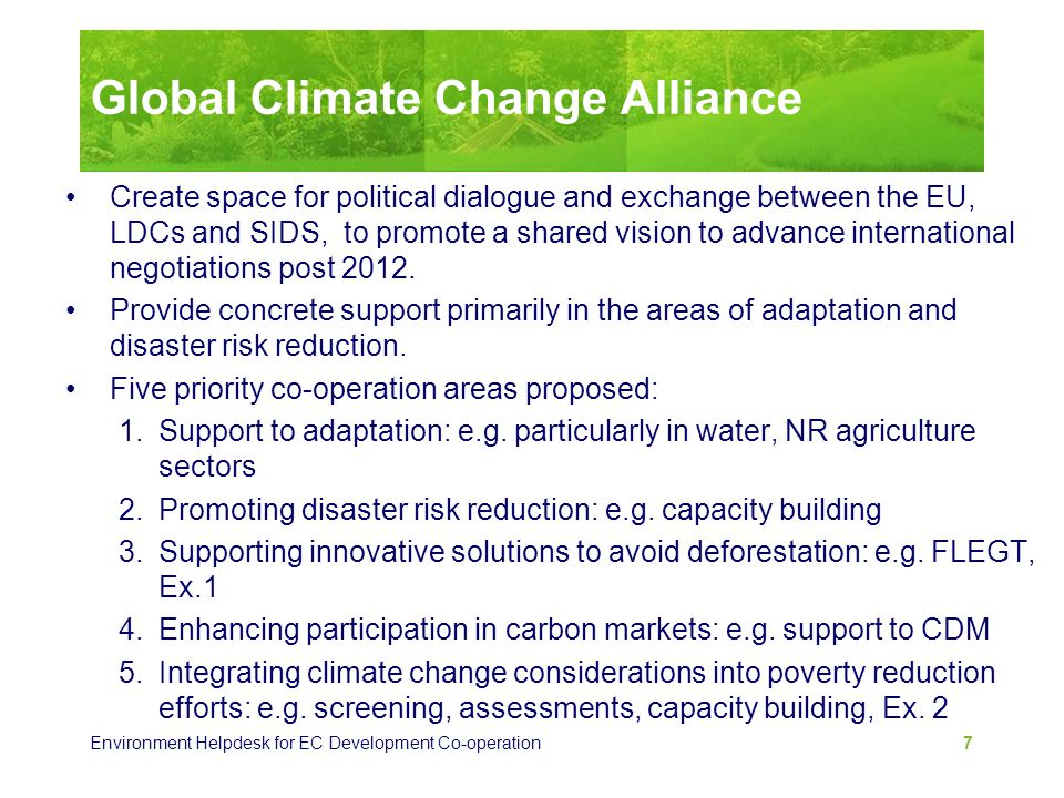 Global Climate Change Alliance