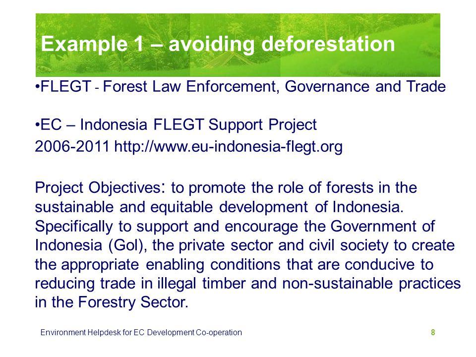 Example 1 – avoiding deforestation