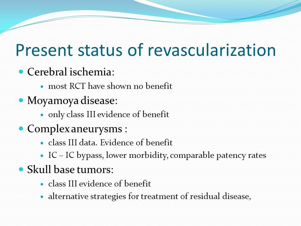 Present status of revascularization