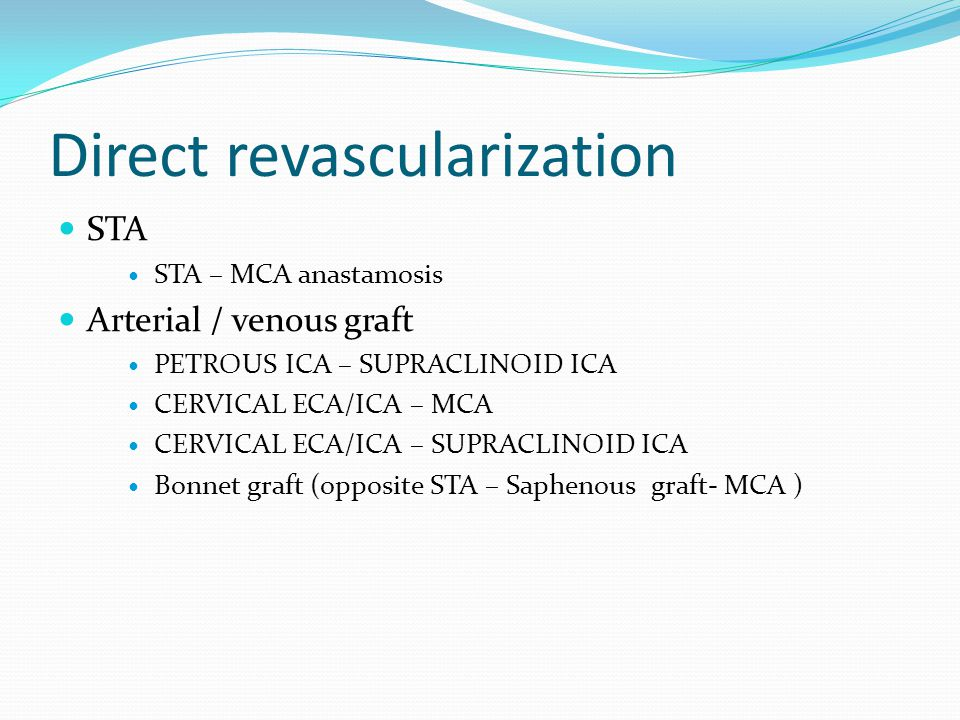 Direct revascularization