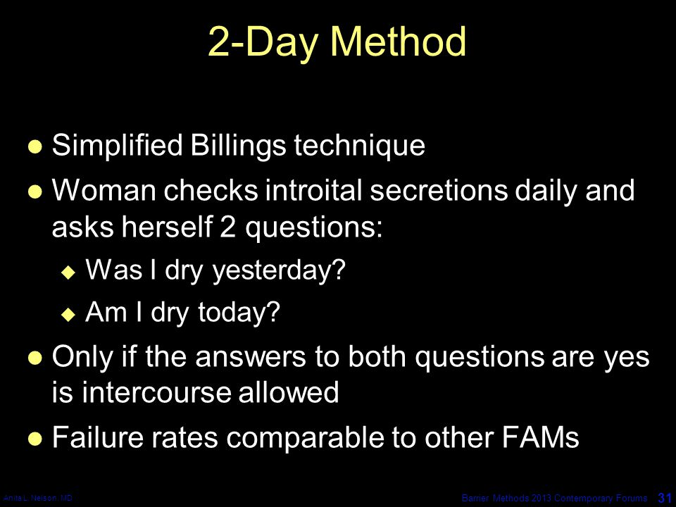 2-Day Method Simplified Billings technique