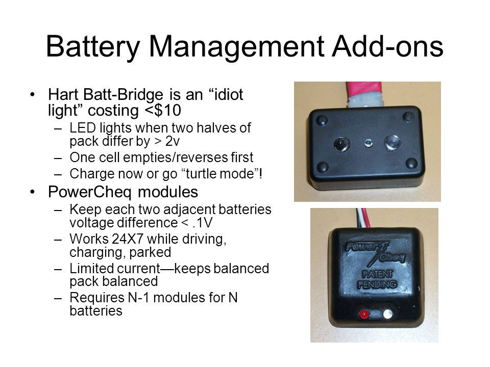 Battery Management Add-ons