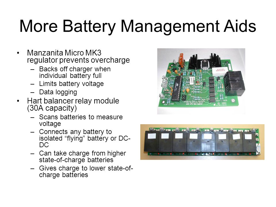 More Battery Management Aids