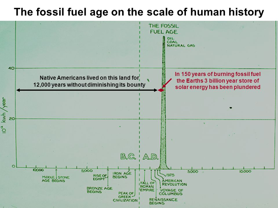 The fossil fuel age on the scale of human history
