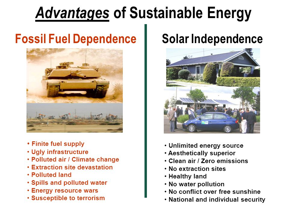 Advantages of Sustainable Energy
