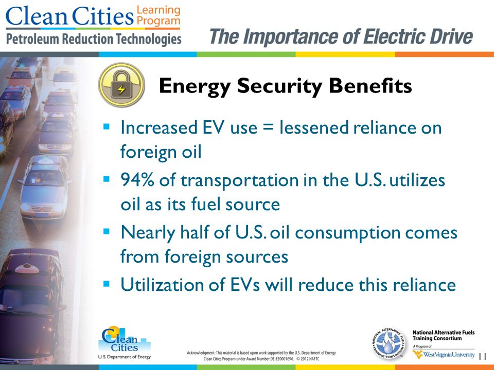 Energy Security Benefits