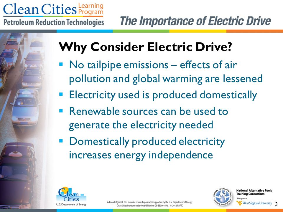 Why Consider Electric Drive