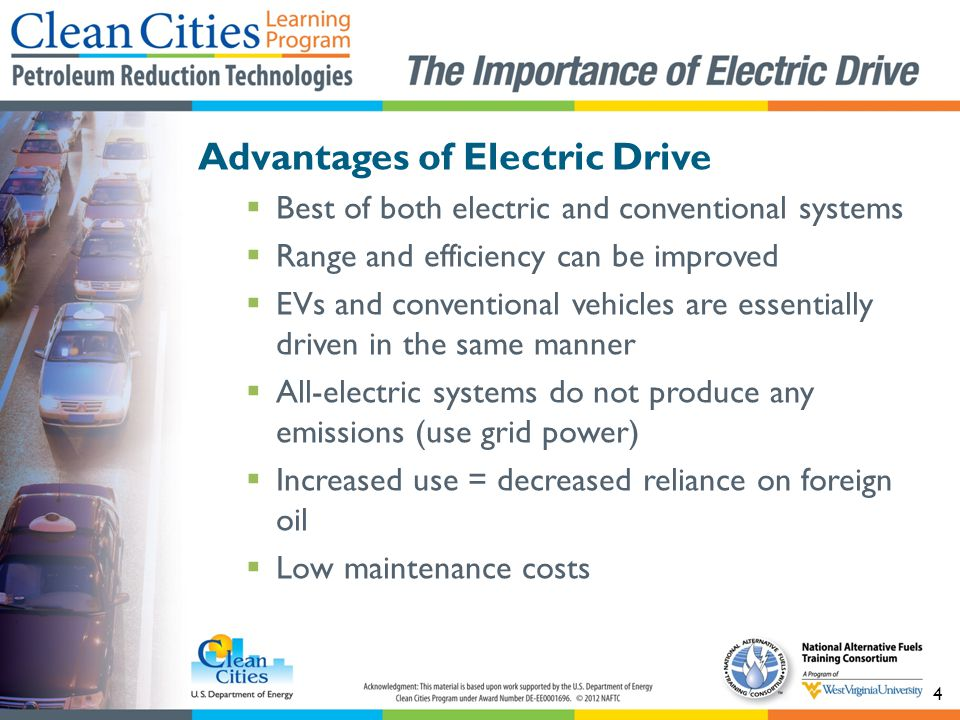 Advantages of Electric Drive