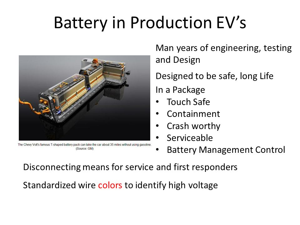 Battery in Production EV's