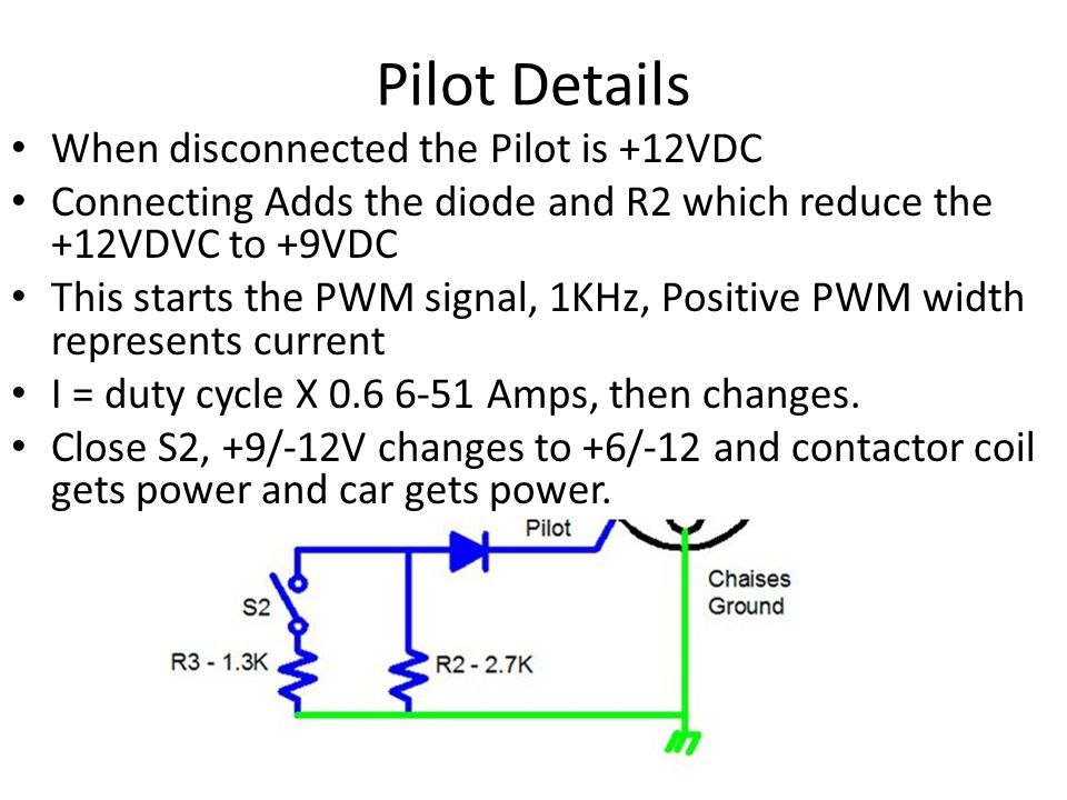 Pilot Details When disconnected the Pilot is +12VDC