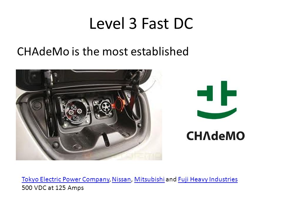 Level 3 Fast DC CHAdeMo is the most established