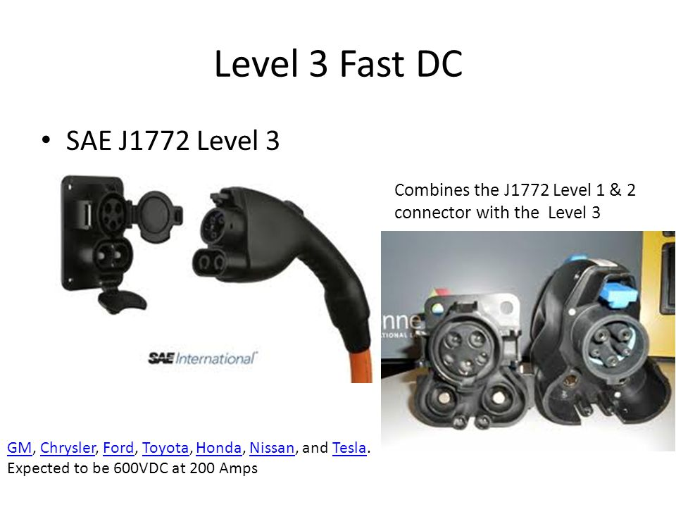 Level 3 Fast DC SAE J1772 Level 3