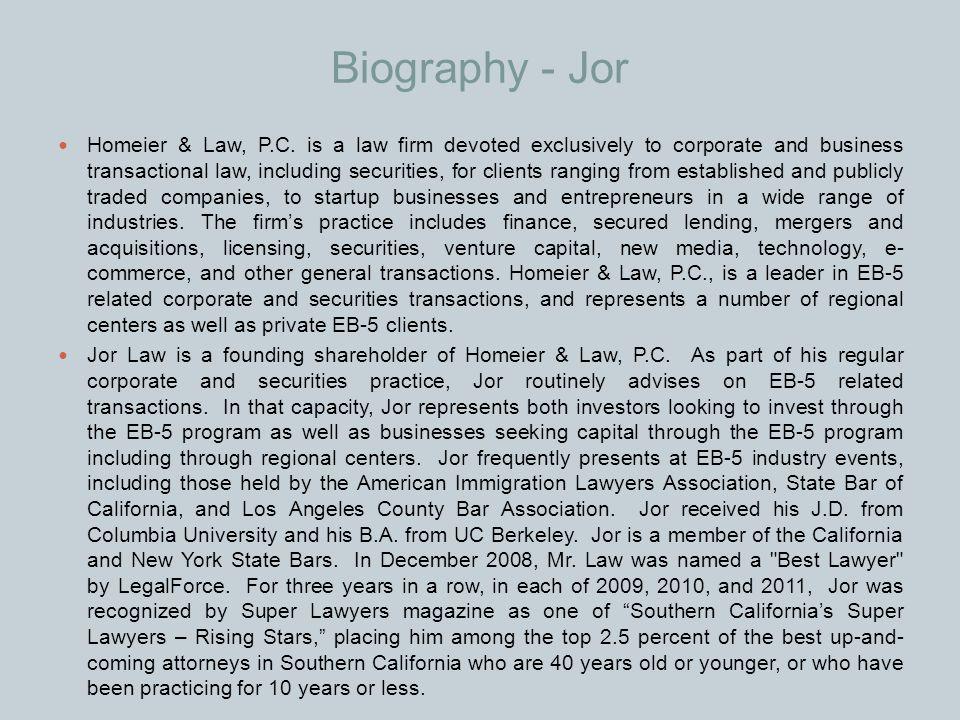 Biography - Jor