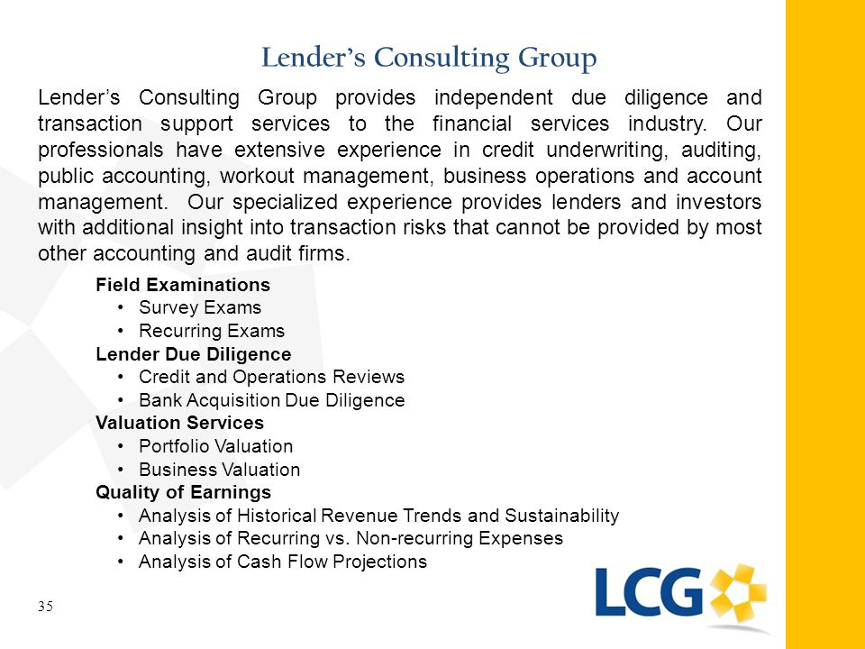 Lender's Consulting Group