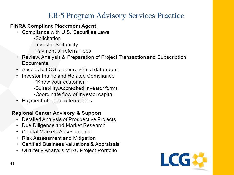 EB-5 Program Advisory Services Practice