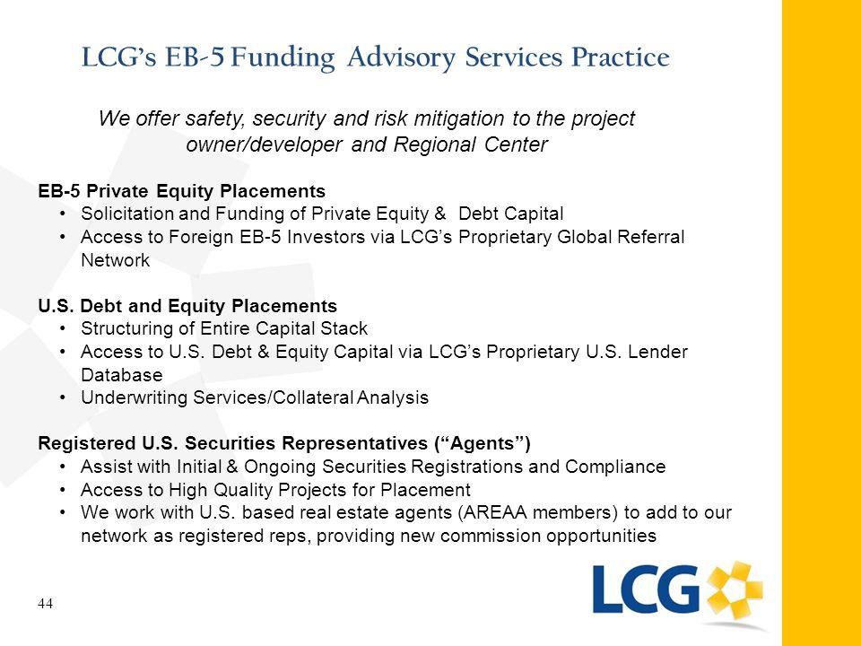 LCG's EB-5 Funding Advisory Services Practice