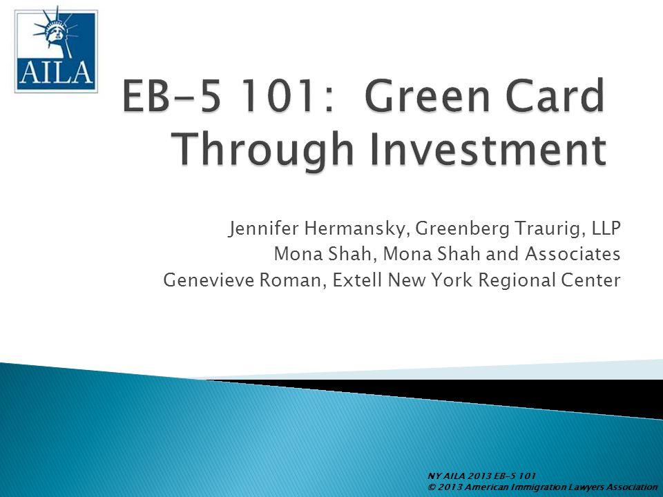 EB-5 101: Green Card Through Investment
