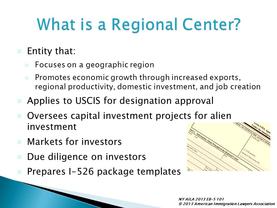 What is a Regional Center