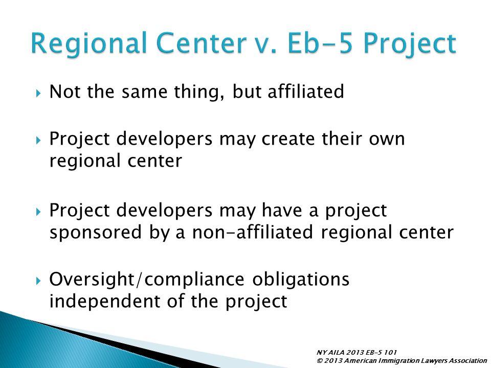 Regional Center v. Eb-5 Project