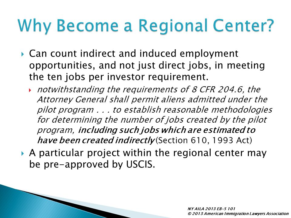 Why Become a Regional Center
