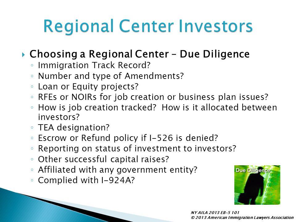 Regional Center Investors