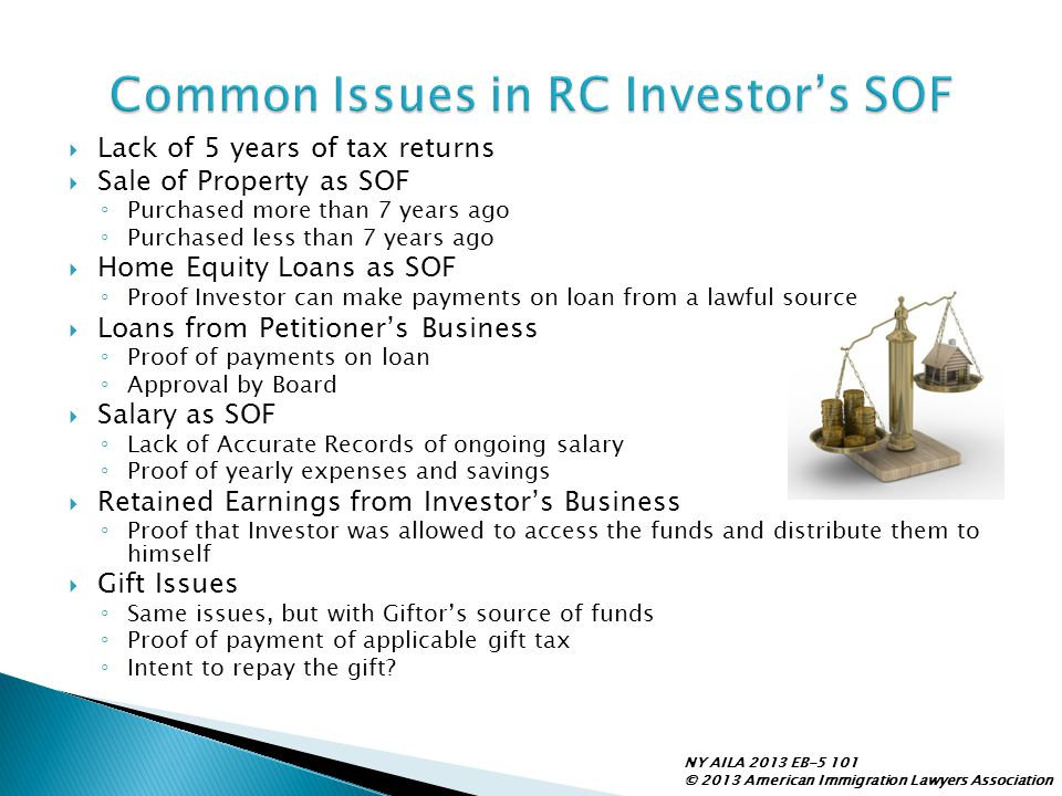 Common Issues in RC Investor's SOF