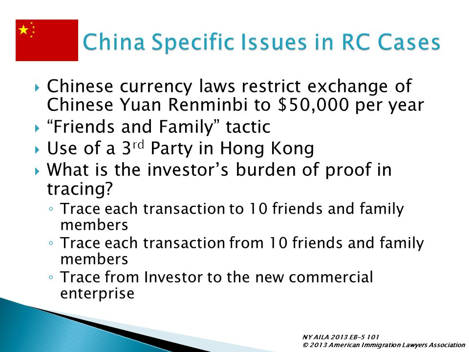 China Specific Issues in RC Cases