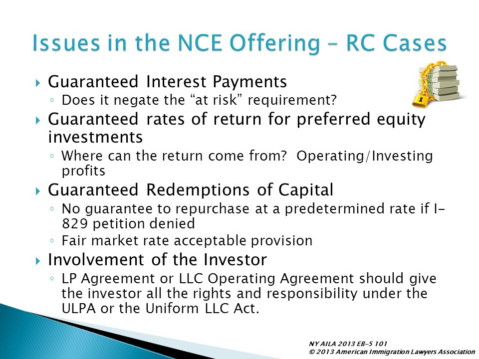 Issues in the NCE Offering – RC Cases