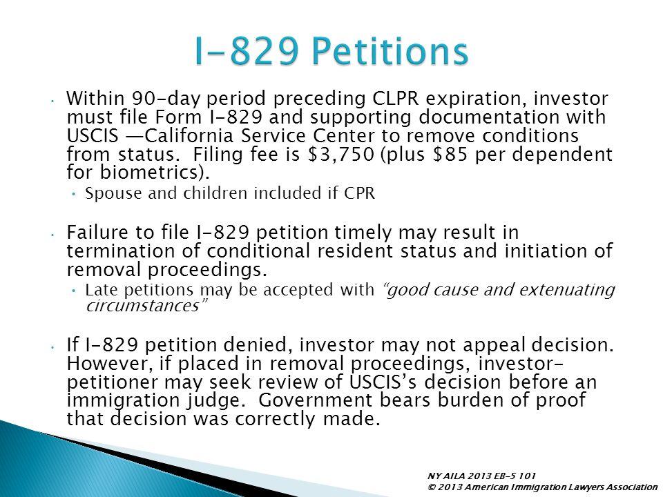 I-829 Petitions