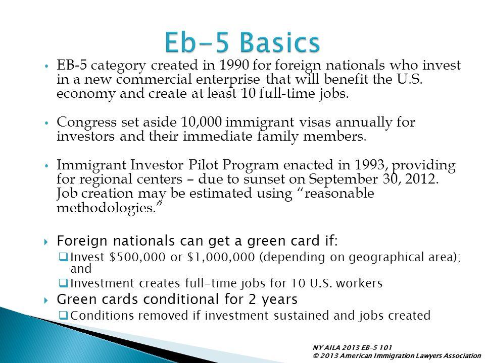Eb-5 Basics