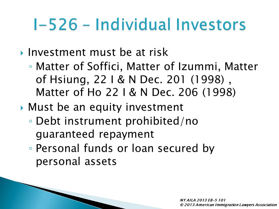 I-526 – Individual Investors