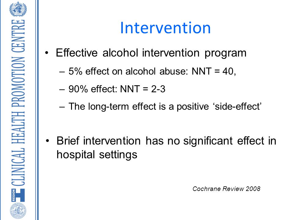 Intervention Effective alcohol intervention program