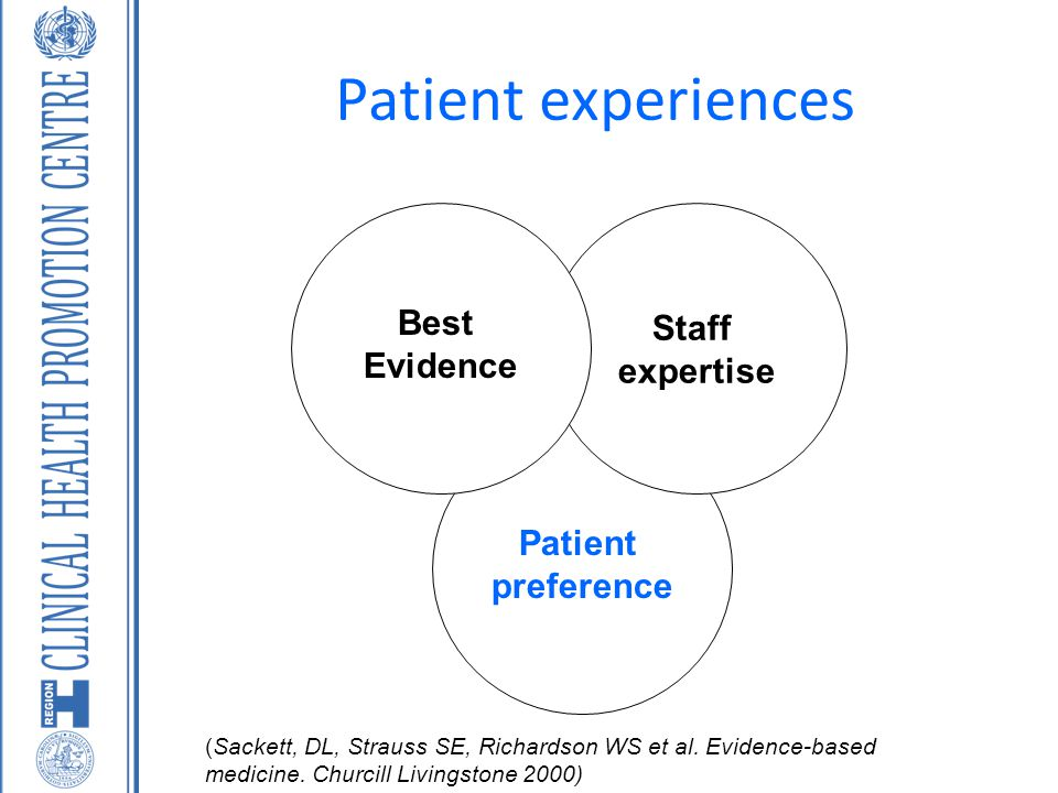 Patient experiences Best Staff Evidence expertise Patient preference