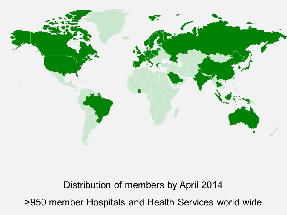 Distribution of members by April 2014