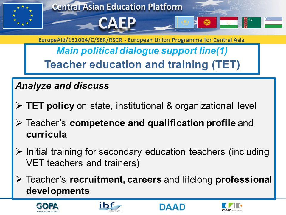 Teacher education and training (TET)