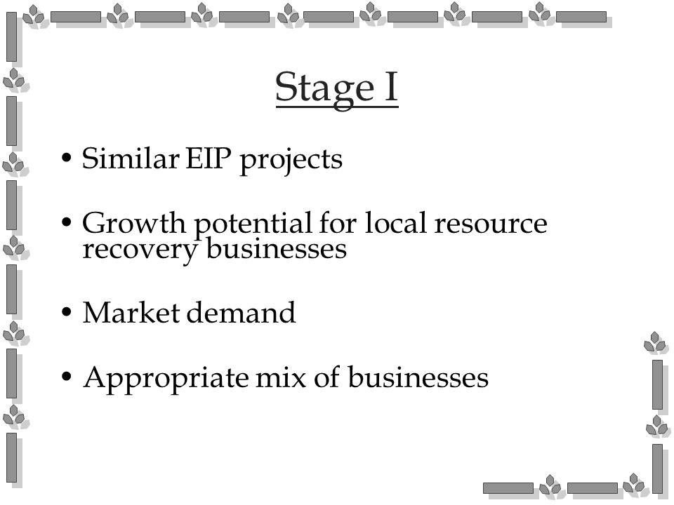 Stage I Similar EIP projects