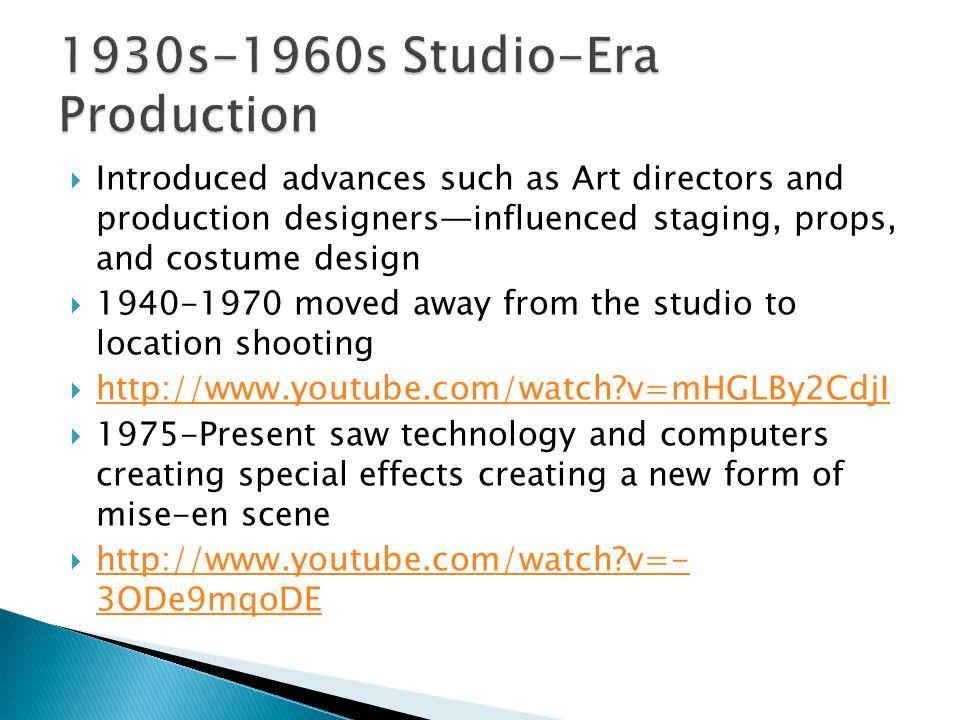 1930s-1960s Studio-Era Production