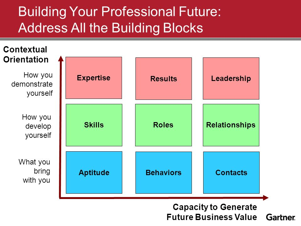 Building Your Professional Future: Address All the Building Blocks