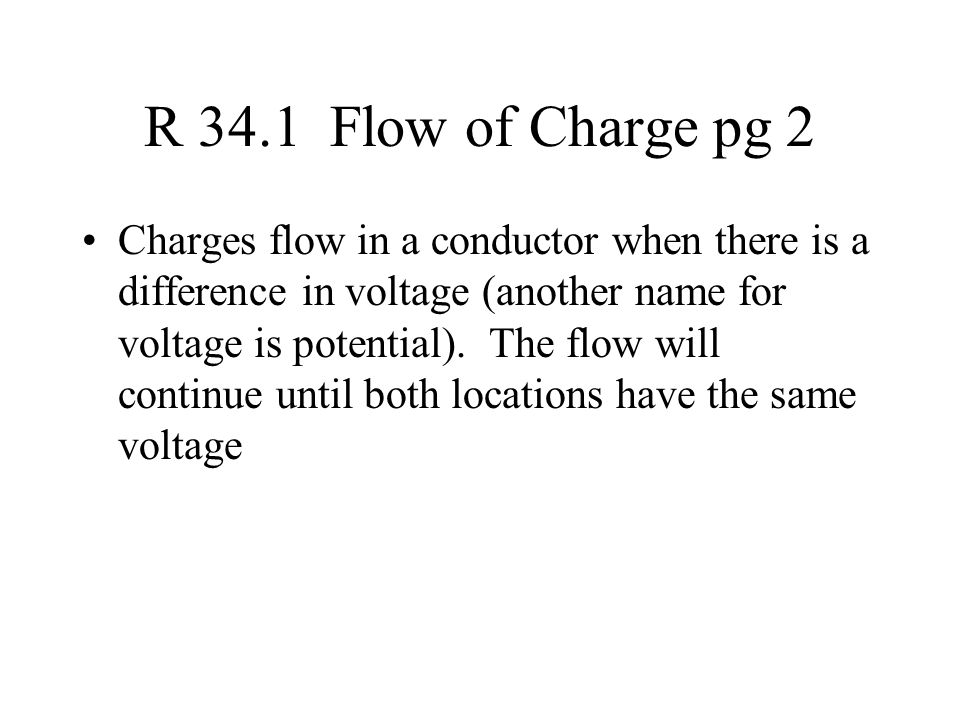 R 34.1 Flow of Charge pg 2