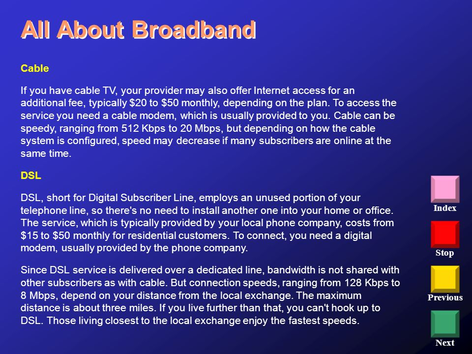 All About Broadband Cable