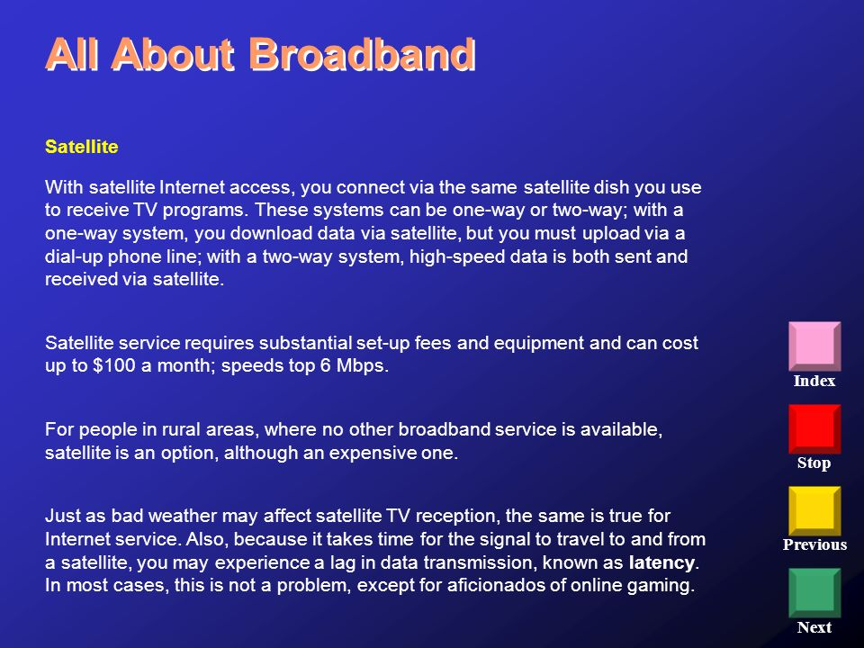All About Broadband Satellite