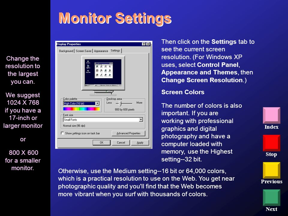 Monitor Settings