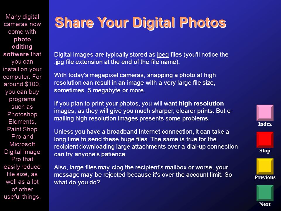 Share Your Digital Photos