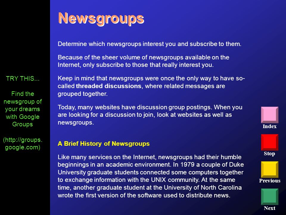 Find the newsgroup of your dreams with Google Groups